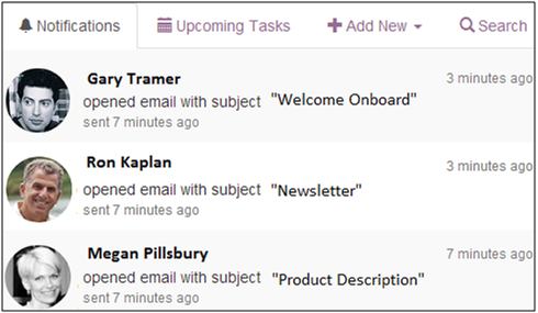 Email and Link Tracking Notifications