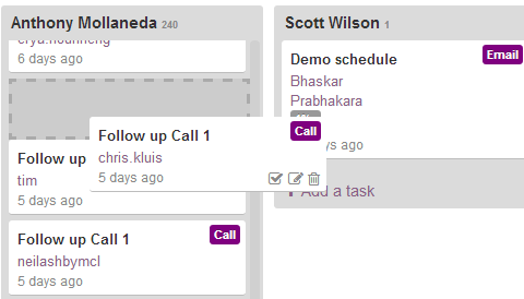 Drag and Drop Tasks Among Your Team