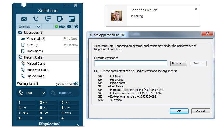 RingCentral integration in Agile CRM