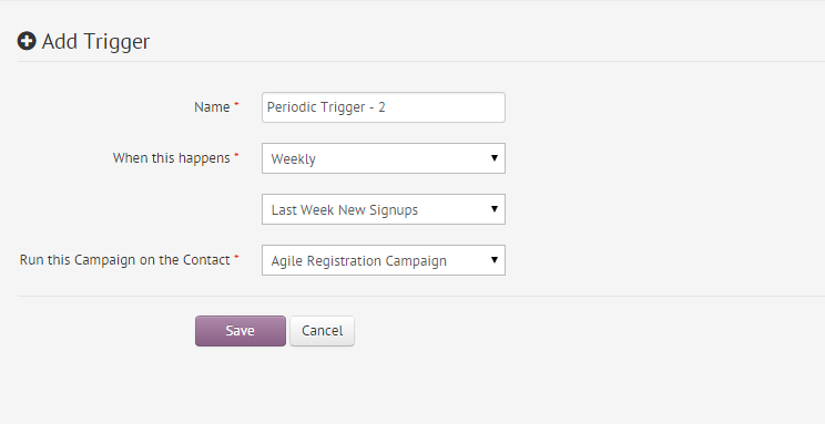 Period Trigger for New Signups