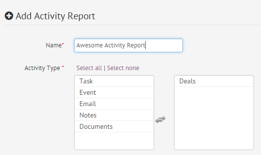 How to Add an Activity Report