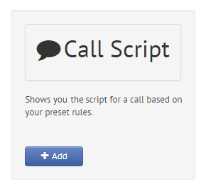 Call Scripts Widget
