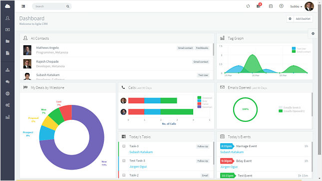 New UI in Agile CRM