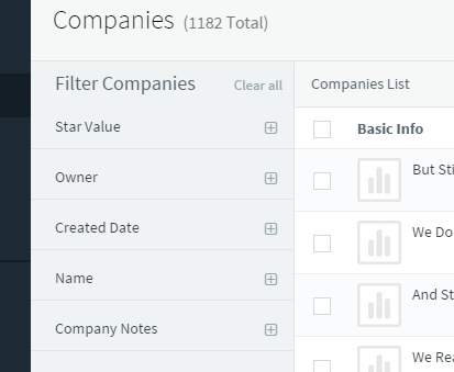 Filter Companies Based on Tags, Lead Scores and More