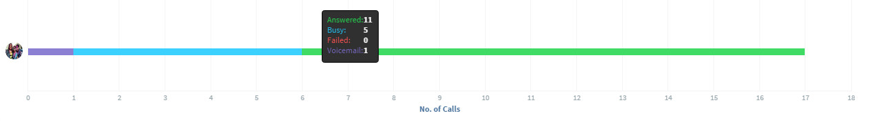 CRM Report on Total Calls by User