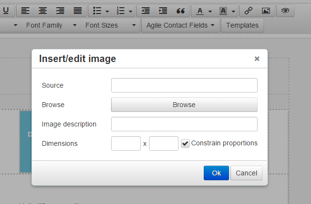 Upload Images to Emails in Agile CRM