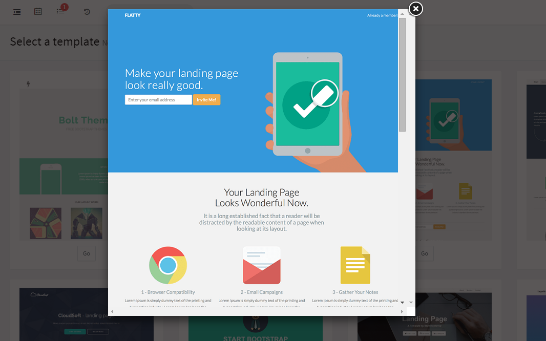 Free Templates for Landing Pages