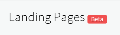 Landing Page Builder Beta Release