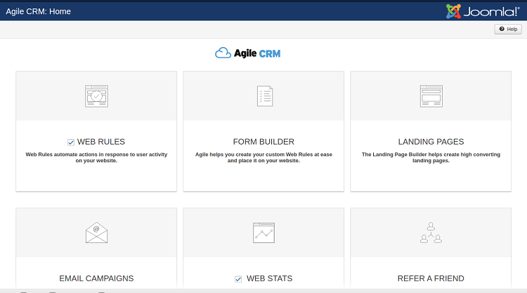 joomla dashboard