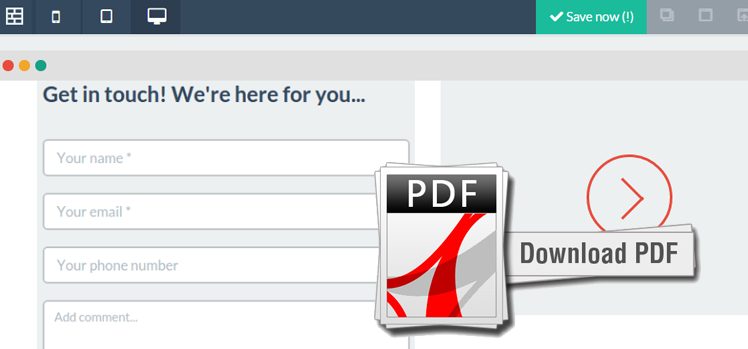 Now Include Direct PDF Downloads on Agile CRM Forms