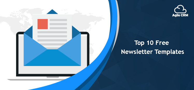 It Newsletter Template from www.agilecrm.com