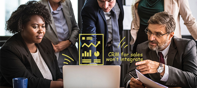 CRM for sales won't integrate with my other systems