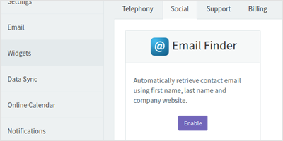 Email Finder Widget