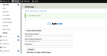 Setting up Agile CRM account