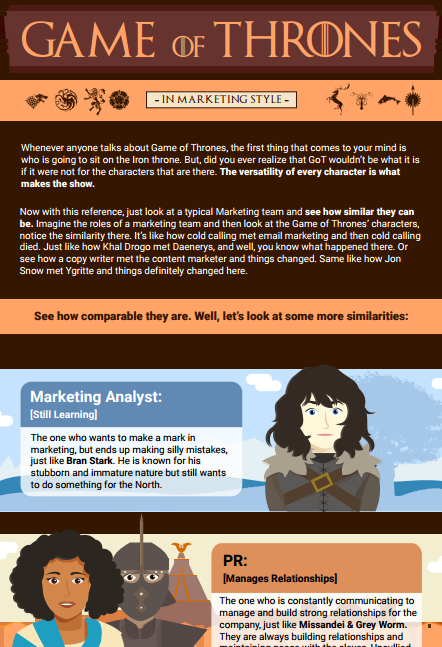 Game of Thrones: In Marketing Style